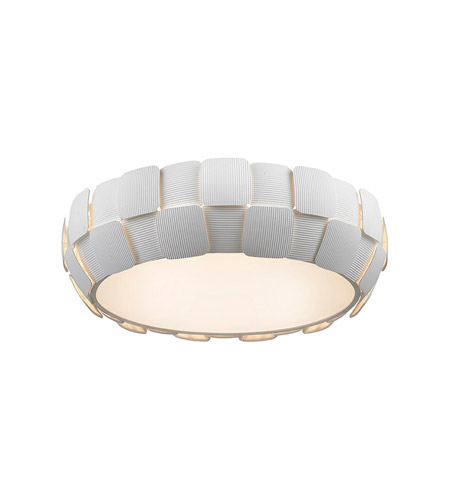 Access 50902-WH/WH Layers 6 Light 22 inch White Flush Mount Ceiling Light in White Acrylic, Incandescent photo
