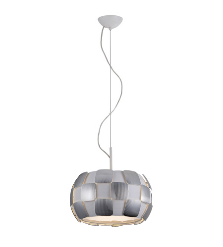 Access 50904LEDD-WH/CH Layers LED 14 inch White Pendant Ceiling Light in Chrome photo