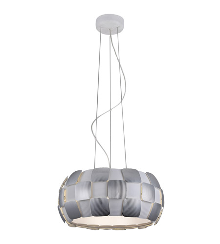 Access 50906-WH/CH Layers 5 Light 18 inch White Pendant Ceiling Light in Chrome, Incandescent photo thumbnail