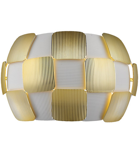 Access 50907-WH/GLD Layers 2 Light 13 inch White Wall Sconce Wall Light in Incandescent, Gold Acrylic photo