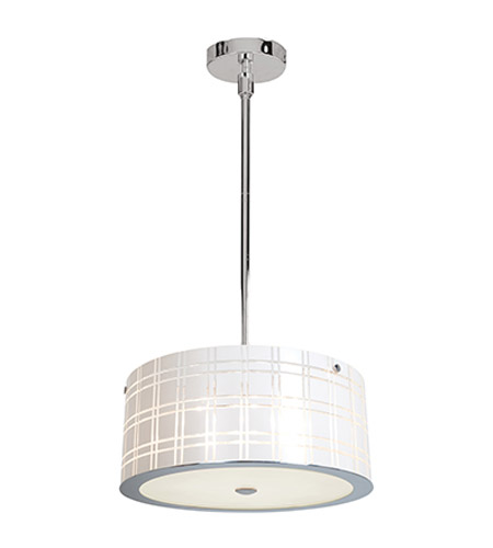 Access Lighting Kalista 3 Light Pendant in Chrome 50975-CH/WH photo