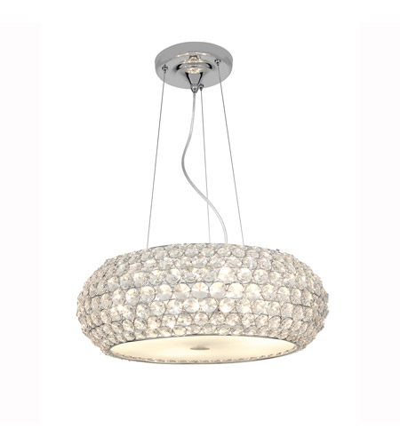 Access Lighting Kristal 3 Light Crystal Cable Pendant in Chrome with Clear Crystal Glass 51000-CH/CCL photo