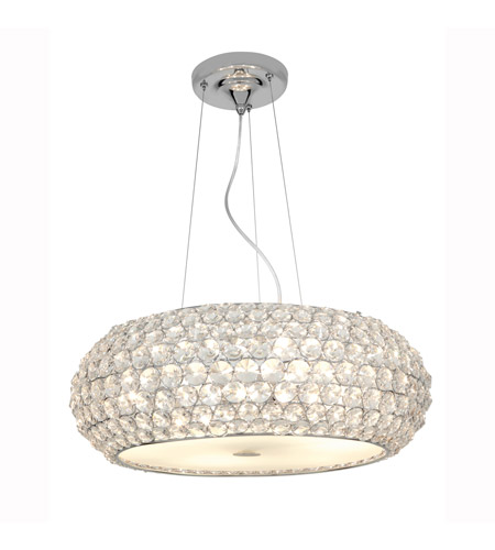 Access Lighting Kristal 6 Light Crystal Cable Pendant in Chrome with Clear Crystal Glass 51001-CH/CCL photo