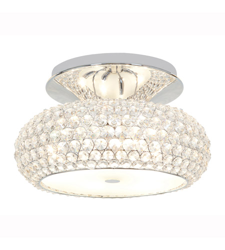 Access Lighting Kristal 3 Light Crystal Semi-Flush in Chrome with Clear Crystal Glass 51002-CH/CCL