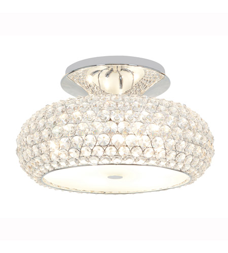 Access Lighting Kristal 6 Light Crystal Semi-Flush in Chrome with Clear Crystal Glass 51003-CH/CCL photo