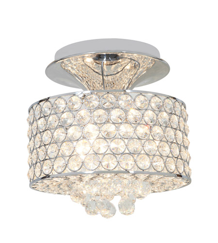 Access Lighting Kristal 3 Light Crystal Semi-Flush in Chrome with Clear Crystal Glass 51005-CH/CCL photo