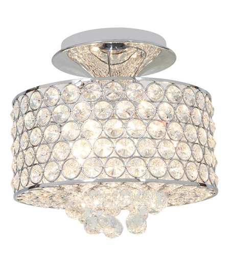 Access Lighting Kristal 4 Light Crystal Semi-Flush in Chrome with Clear Crystal Glass 51006-CH/CCL photo