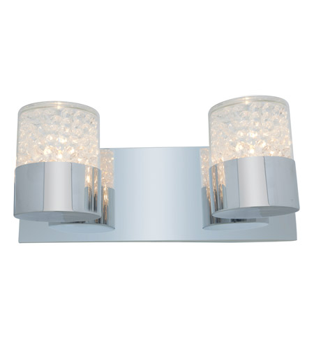 Access Lighting Kristal 2 Light Crystal Wall/Vanity in Chrome with Clear Crystal Glass 51012-CH/CCL photo