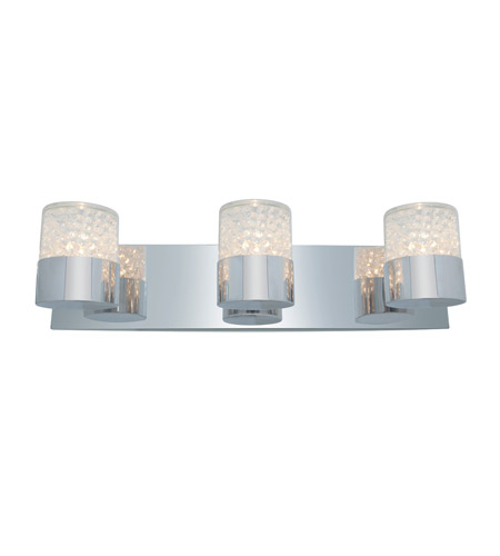 Access Lighting Kristal 3 Light Crystal Wall/Vanity in Chrome with Clear Crystal Glass 51013-CH/CCL photo