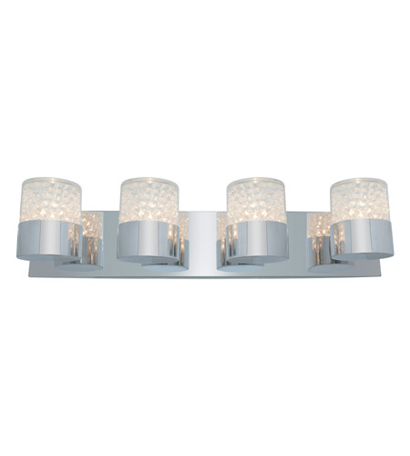 Access Lighting Kristal 4 Light Crystal Wall/Vanity in Chrome with Clear Crystal Glass 51014-CH/CCL photo
