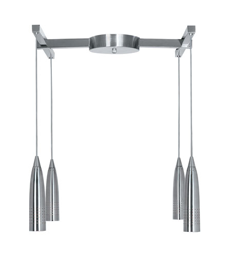 Access Lighting Celestial Odyssey 4 Light 4 Light H Type Canopy Pendant in Black 52014-BL photo