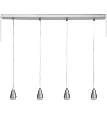 Access 52024-BS Quada 4 Light 2 inch Brushed Steel Maxi Pendant Ceiling Light photo