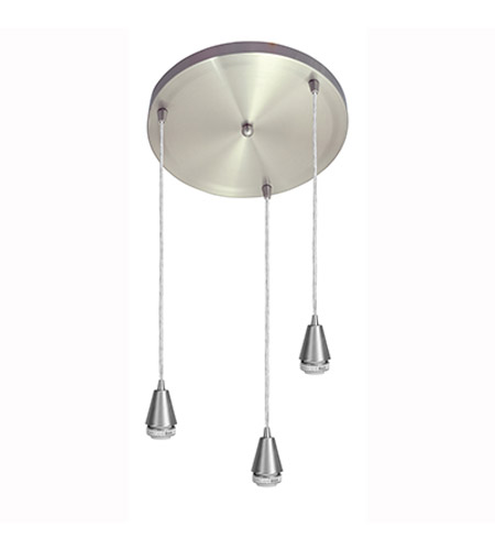 Access Lighting Circ 3 Light Maxi Pendant in Brushed Steel 52025-BS photo