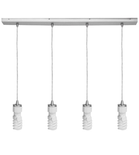 Access 52027-BS Quada 4 Light 2 inch Brushed Steel Maxi Pendant Ceiling Light photo