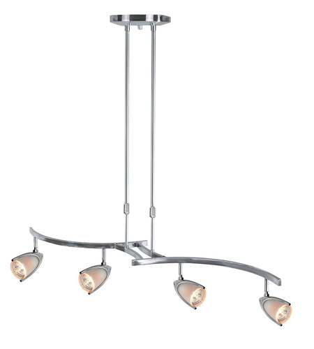 Access Lighting Comet 4 Light Pendant in Brushed Steel 52038-BS/OPL photo