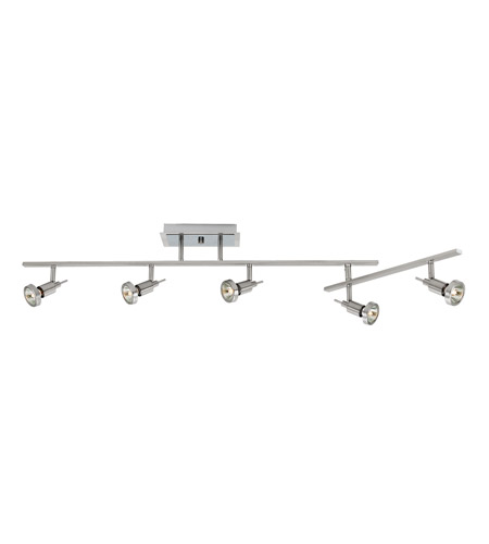 Access Lighting Viper 5 Light Semi-Flush in Brushed Steel 52042-BS photo