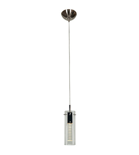 Access Lighting Matrix 1 Light Pendant in Brushed Steel with Clear Crystal Glass 52072UJ-2-BS/CCL photo