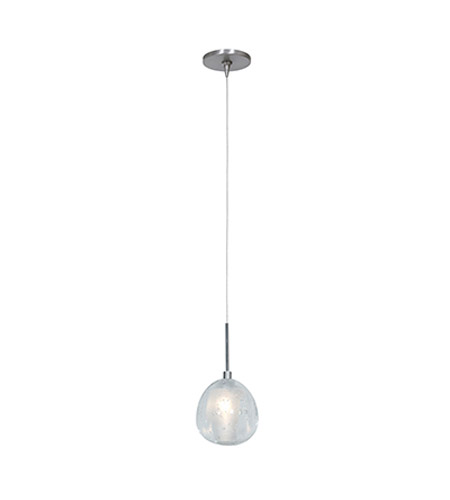 Access 52075UJ-1-BS/CCL Raindrop 1 Light 4 inch Brushed Steel Pendant Ceiling Light in Flat photo