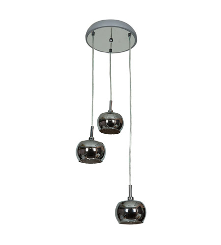 Access 52117-CH/MIR Glam 3 Light 10 inch Chrome Pendant Ceiling Light alternative photo thumbnail