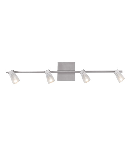 Access 52144-BS/FCL Ryan 4 Light 34 inch Brushed Steel Vanity Wall Light in  33.5 inch photo