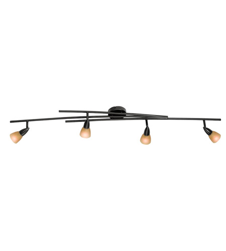 Access Lighting Iris 4 Light Semi-Flush in Oil Rubbed Bronze 52150-ORB/AMB photo