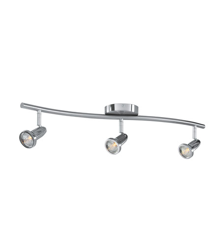 Access Lighting Cobra 3 Light Semi-Flush in Brushed Steel 52203-BS photo