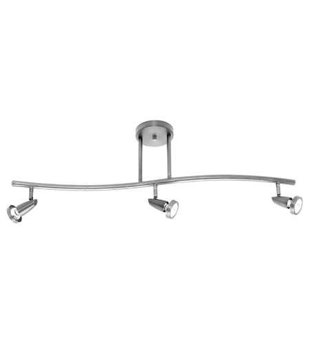 Access 52223LEDD-BS Mirage LED 3 inch Brushed Steel Convertible Semi-Flush/Pendant Ceiling Light photo
