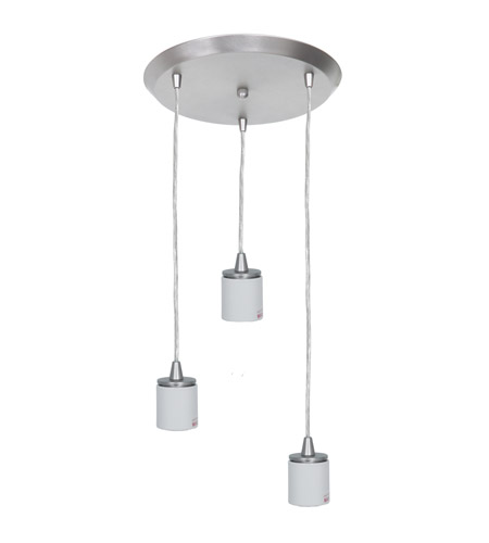 Access 52230FC-BS Circ 3 Light 11 inch Brushed Steel Pendant Ceiling Light in Incandescent photo