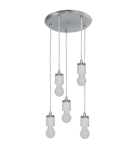 Access 52232FC-BS Circ 5 Light 14 inch Brushed Steel Pendant Ceiling Light photo