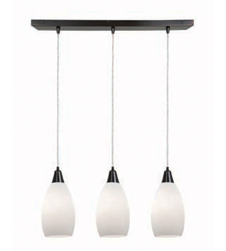 Access Lighting Inari Silk 3 Light Maxi Pendant in Oil Rubbed Bronze 52312-ORB/OPL photo