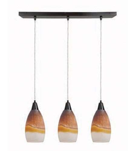 Access Lighting Inari Silk 3 Light Maxi Pendant in Oil Rubbed Bronze 52312-ORB/TRA photo