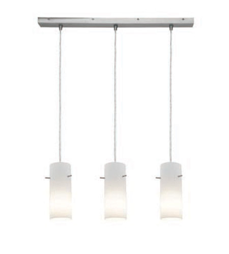Access Lighting Inari Silk 3 Light Maxi Pendant in Brushed Steel 52330-BS/OPL photo