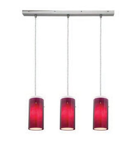 Access Lighting Glass in Glass 3 Light Maxi Pendant in Brushed Steel 52333-BS/PLOP photo