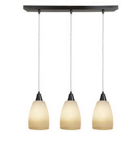 Access Lighting Inari Silk 3 Light Maxi Pendant in Oil Rubbed Bronze 52359-ORB/FRA photo