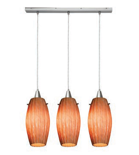Access Lighting Fleur 3 Light Maxi Pendant in Brushed Steel 52376-BS/AMM photo