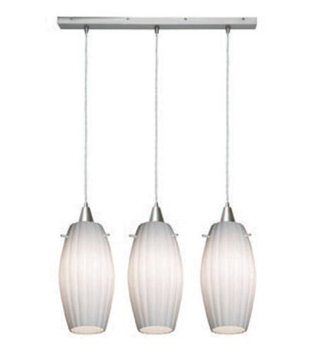Access Lighting Fleur 3 Light Maxi Pendant in Brushed Steel 52376-BS/OPL photo