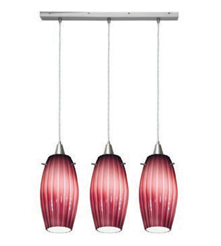 Access Lighting Fleur 3 Light Maxi Pendant in Brushed Steel 52376-BS/PLM photo