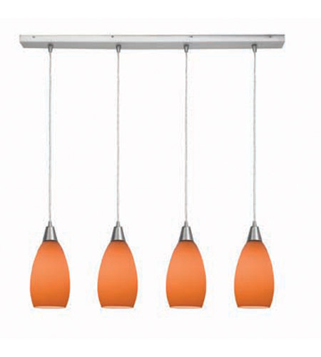 Access Lighting Inari Silk 4 Light Maxi Pendant in Brushed Steel 52412-BS/ORG photo