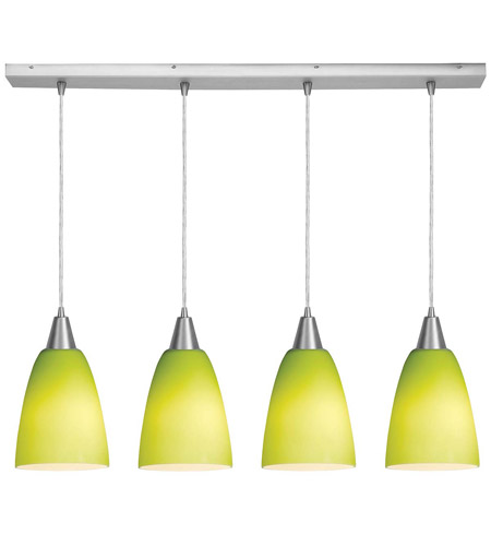 Access Lighting Inari Silk 4 Light Maxi Pendant in Brushed Steel 52422-BS/LGR photo