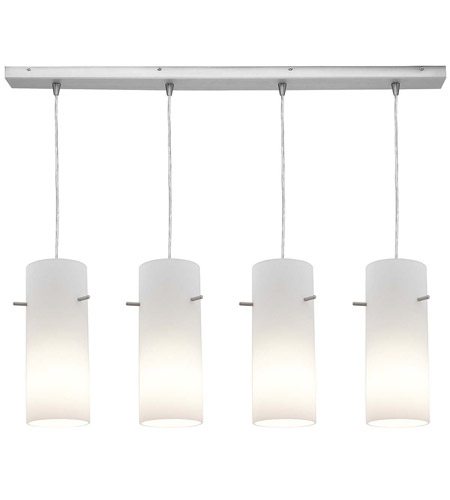 Access Lighting Inari Silk 4 Light Maxi Pendant in Brushed Steel 52430-BS/OPL photo