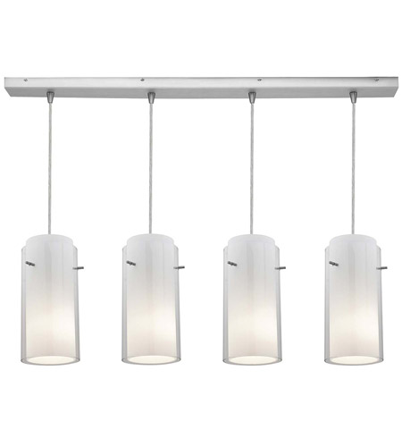 Access Lighting Glass in Glass 4 Light Maxi Pendant in Brushed Steel 52433-BS/CLOP photo