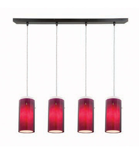 Access Lighting Glass in Glass 4 Light Maxi Pendant in Oil Rubbed Bronze 52433-ORB/PLOP photo