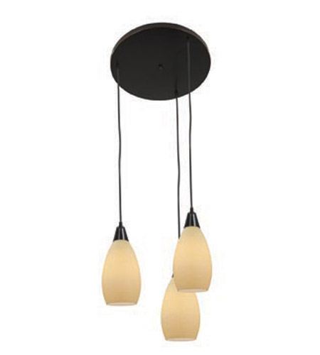 Access Lighting Inari Silk 3 Light Maxi Pendant in Oil Rubbed Bronze 52512-ORB/CRM photo