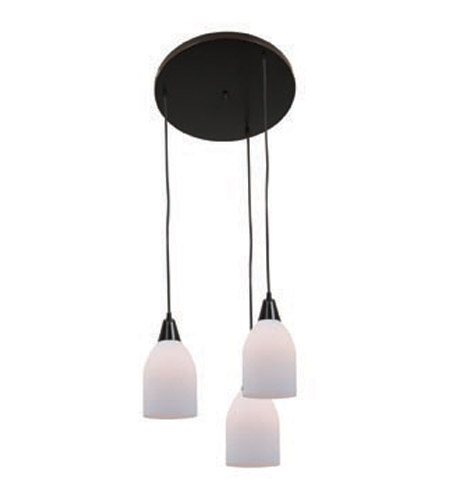Access Lighting Inari Silk 3 Light Maxi Pendant in Oil Rubbed Bronze 52518-ORB/OPL photo