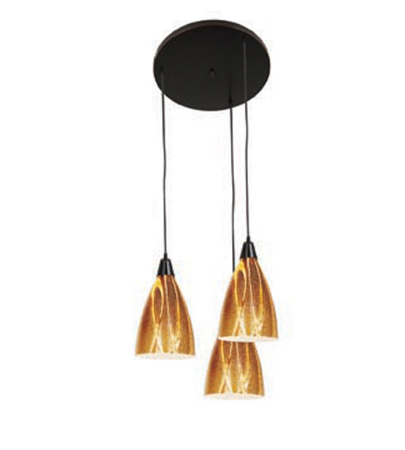 Access Lighting Safari 3 Light Maxi Pendant in Oil Rubbed Bronze 52525-ORB/AMZ photo