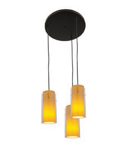 Access Lighting Glass in Glass 3 Light Maxi Pendant in Oil Rubbed Bronze 52533-ORB/CLAM photo