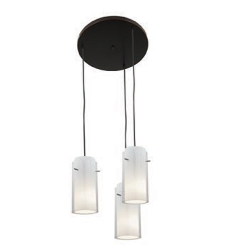 Access Lighting Glass in Glass 3 Light Maxi Pendant in Oil Rubbed Bronze 52533-ORB/CLOP photo