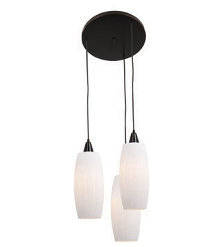 Access Lighting Pearl 3 Light Maxi Pendant in Oil Rubbed Bronze 52570-ORB/WHT photo