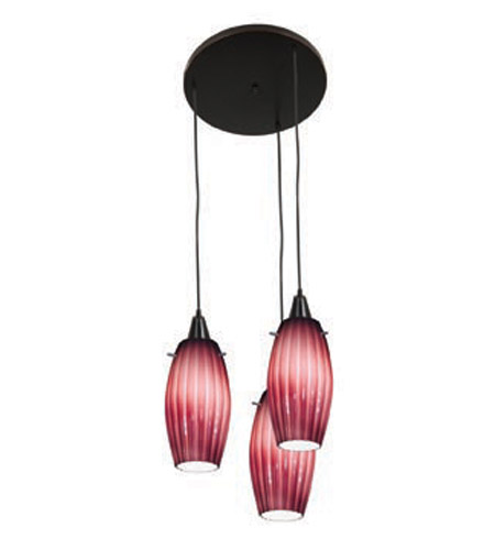 Access Lighting Fleur 3 Light Maxi Pendant in Oil Rubbed Bronze 52576-ORB/PLM photo