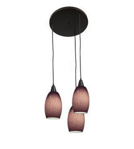 Access Lighting Swirl 3 Light Maxi Pendant in Oil Rubbed Bronze 52578-ORB/PLC photo